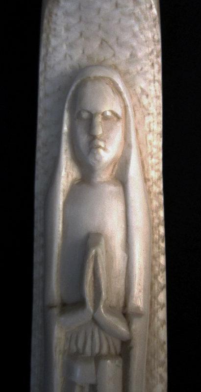 Ivory Madonna Walking Stick with Ebony Shaft c.1900