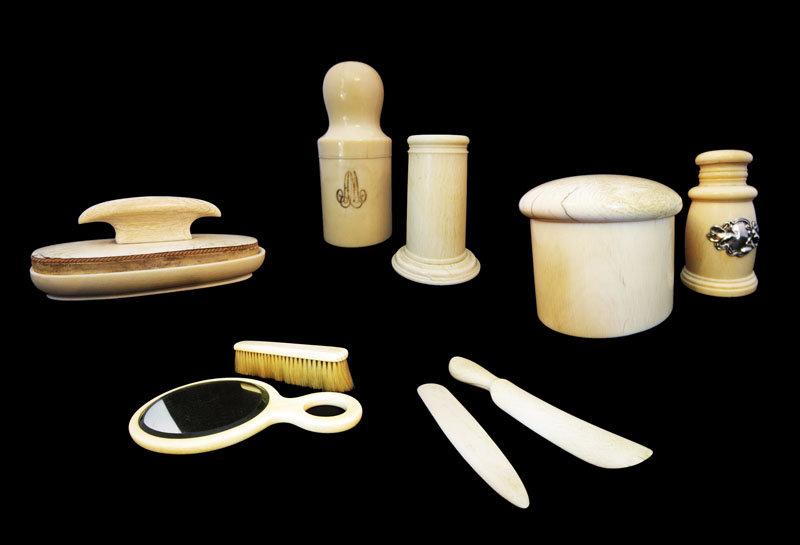Ivory Dresser Set, 9 Pieces, Amazing Find
