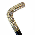 Detailed Handle, Gold Filled Walking Stick
