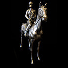 Sterling Silver Man on Horse Sculpture