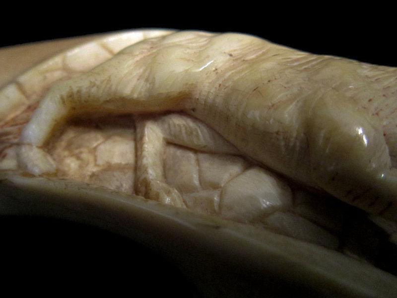 Ivory Handle Dog Walking Stick