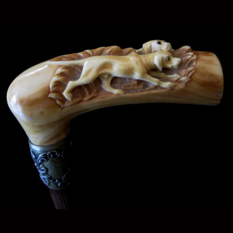 Ivory Dogs Walking Stick