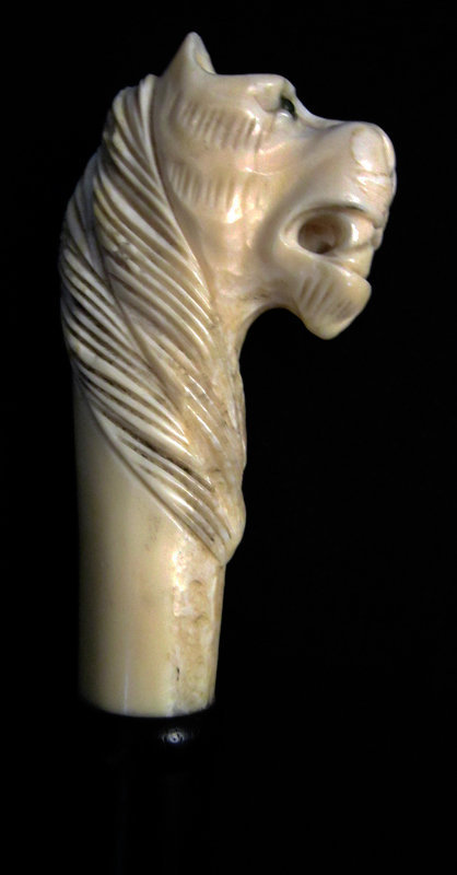 Ivory Lion Walking Stick