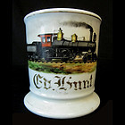 Occupational Shaving Mug, Locomotive