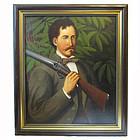 Man with Shotgun/American School c. 1850
