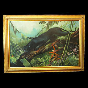 Illusive Florida Black Panther Painting