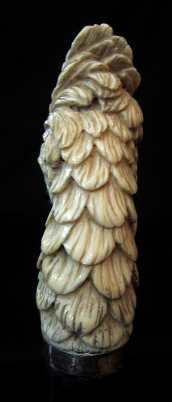 Ivory Cockatoo Walking Stick, 1900