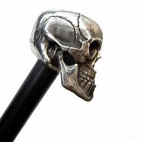 Silver Skull Walking Stick