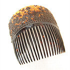 Tortoise Shell Hair Comb with Stand