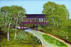 Covered Bridge Painting by Helen LaFrance