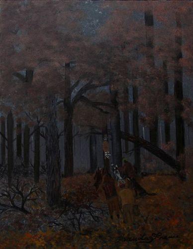 Coon Hunt by Helen LaFrance