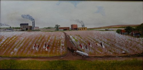 Cotton Field by Helen LaFrance