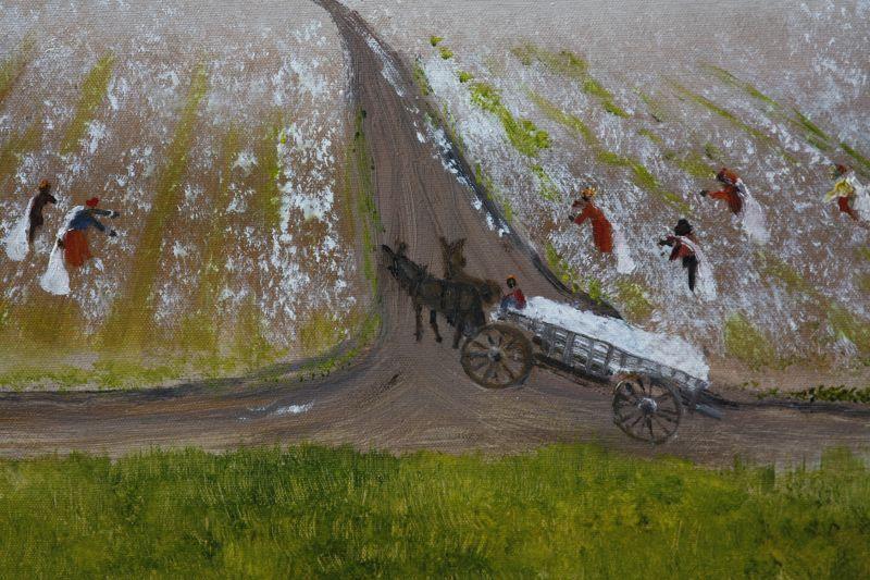 Cotton Field by Helen LaFrance