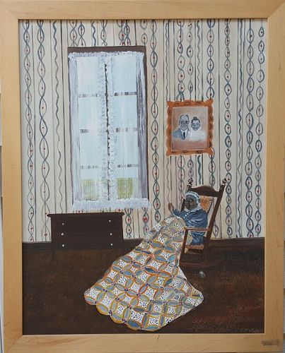 My Grandmother Quilting by Helen LaFrance