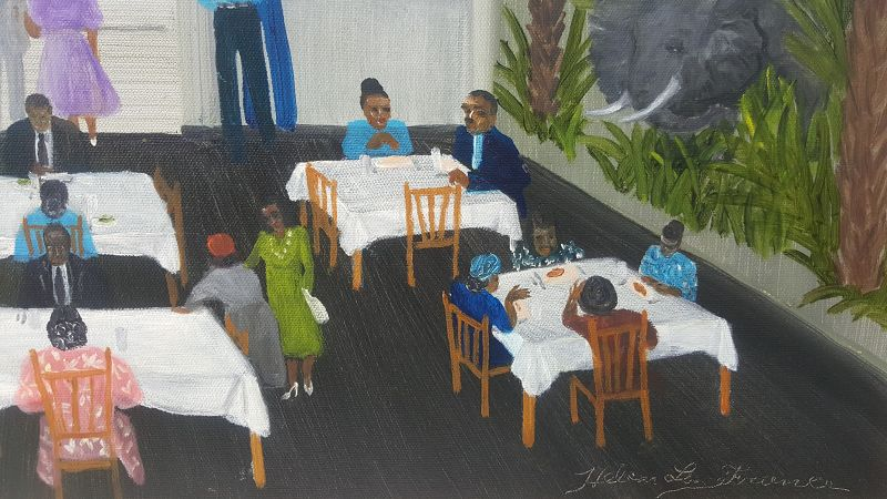 Downtown for Dinner by Helen LaFrance