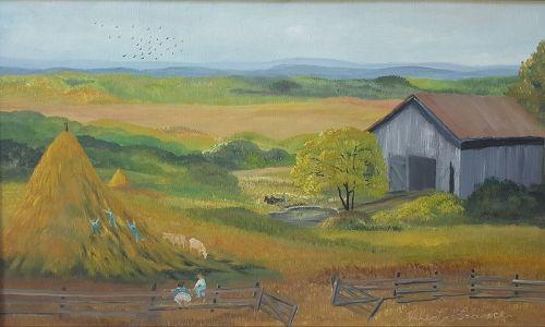 Haystacks by Helen LaFrance