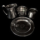 Sterling Silver Child's Place Set, American Victorian Four Pieces
