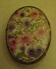 Vintage ladies porcelain chintz belt buckle