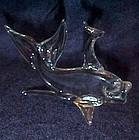 Hand blown clear glass beta fish coy goldfish figurine