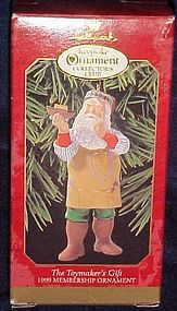 Hallmark Collectors club ornament The Toymakers gift