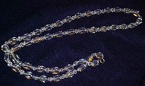 Old cut glass strand of beads