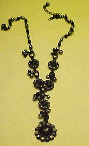 Beautiful black Victorian look necklace
