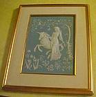 The Lady and the Unicorn framed wedgewood art
