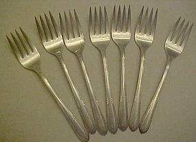 Wm. Rogers FACINATION pattern  silver plate salad forks