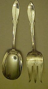 Wm Rogers El California salad fork & spoon set