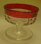 Indiana Ruby flashed Kings crown sherbert dessert dish