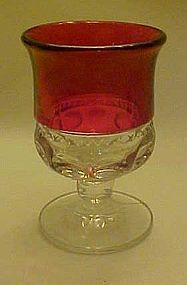 "Kings crown ruby flashed wine glass 4"" Tiffin"