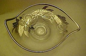 Viking Epic silver  floral overlay dish