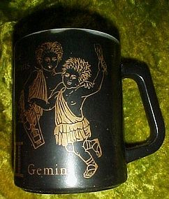 Federal Black zodiac mug gemini the twins