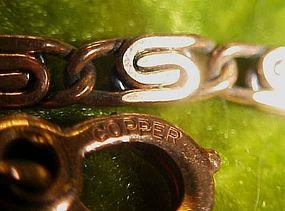 Solid copper  link bracelet. Very pretty