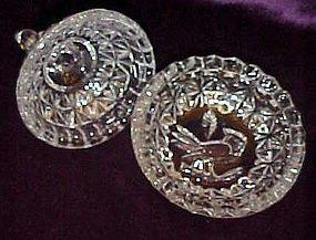 Hofbauer byrdes crystal covered salt dip, salt cellat