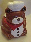 B&D Teddy Bear chef cookie jar cannister, red scarf