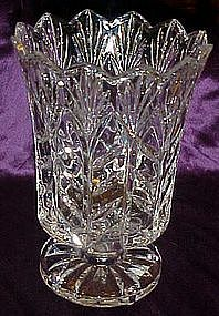 Wonderful large footed  lead crystal flower vase
