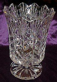 Wonderful large footed  lead crystal flower vase