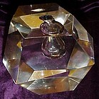 Magnificent  hand cut crystal inkwell / paperweight