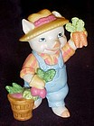 Cute bisque farmer pig figurine by BC Srilanka
