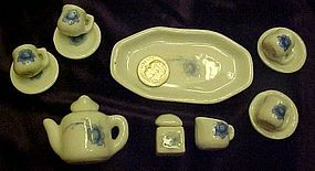 Complete set of tiny dollhouse  dishes from Pretty Port