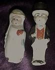 OLD  bisque Frozen Charlotte and Charlie bride &  groom