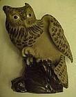 Pottery Clay owl figurine