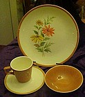 Homer Laughlin dessert bowls match Dura Print Everglade