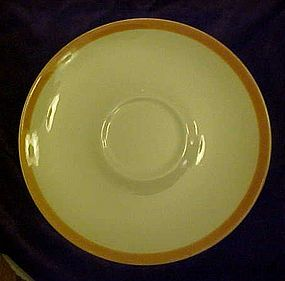 Homer Laughlin saucer for Dura print Everglade pattern