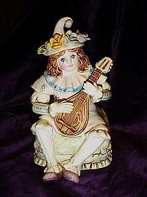 Signed Yamada girl clown Schmid music box figurine
