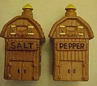 Vintage Twin WInton Barn salt and pepper shakers