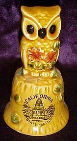Souvenir owl bell of California sate capitol