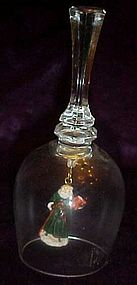 Old World Santa crystal Christmas bell