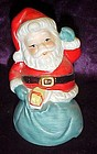 Hand painted porcelain Santa bell